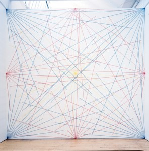 Sol LeWitt, Wall Drawing #273- Lines to points on a grid-1975lewitt